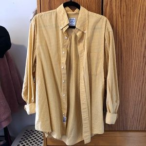Brooks Brothers button down shirt in yellow check